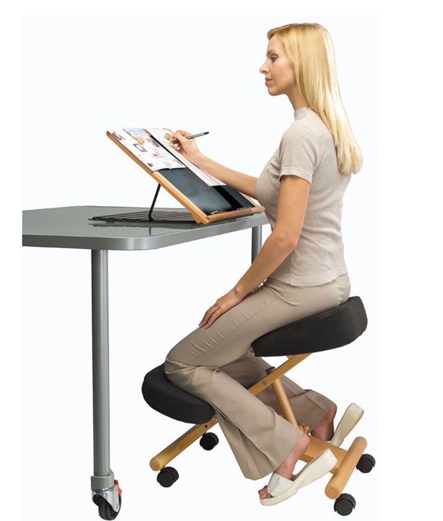 klęcznik krzesło biurowe