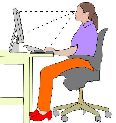 pozycja za biurkiem dla kręgosłupa