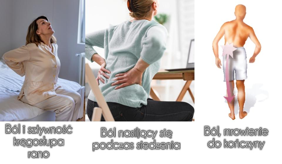 mrowienie do nogi ból kręgosłupa